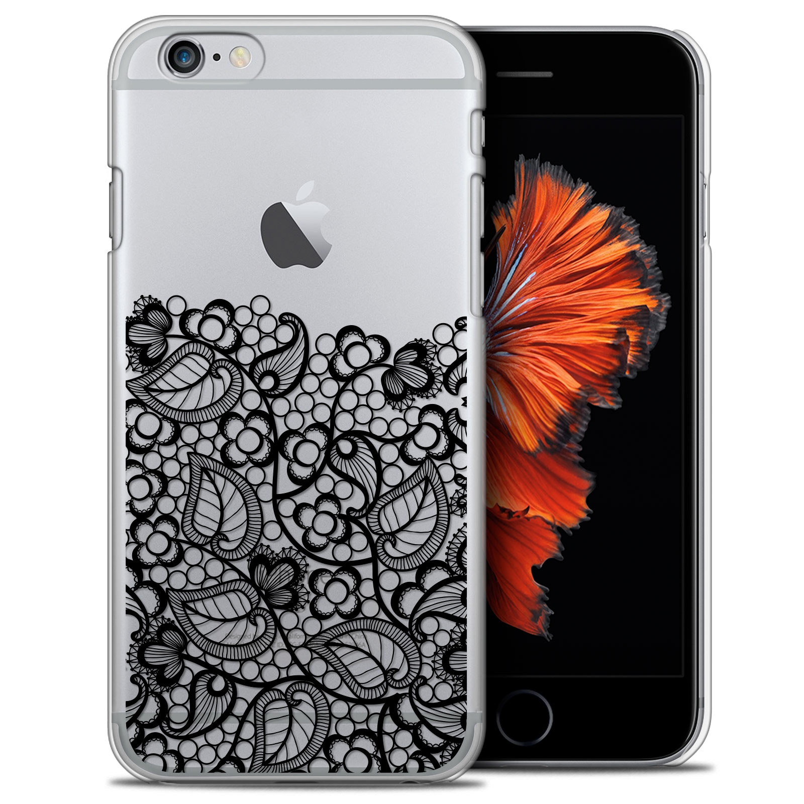 coque crystal iphone 6 6s plus 55 extra fine spring bas dentelle noir