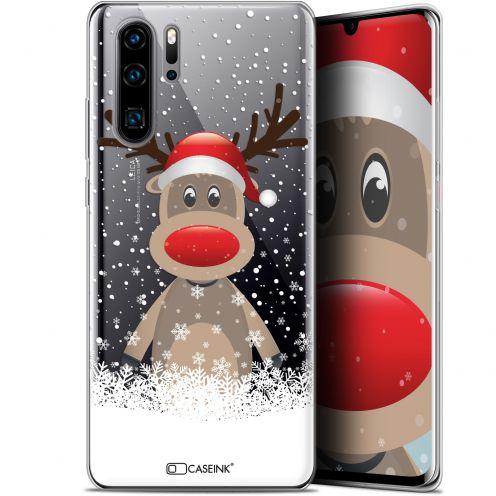 "Coque Gel Huawei P30 Pro (6.47"") Extra Fine Noël 2017 - Cerf au Bonnet"