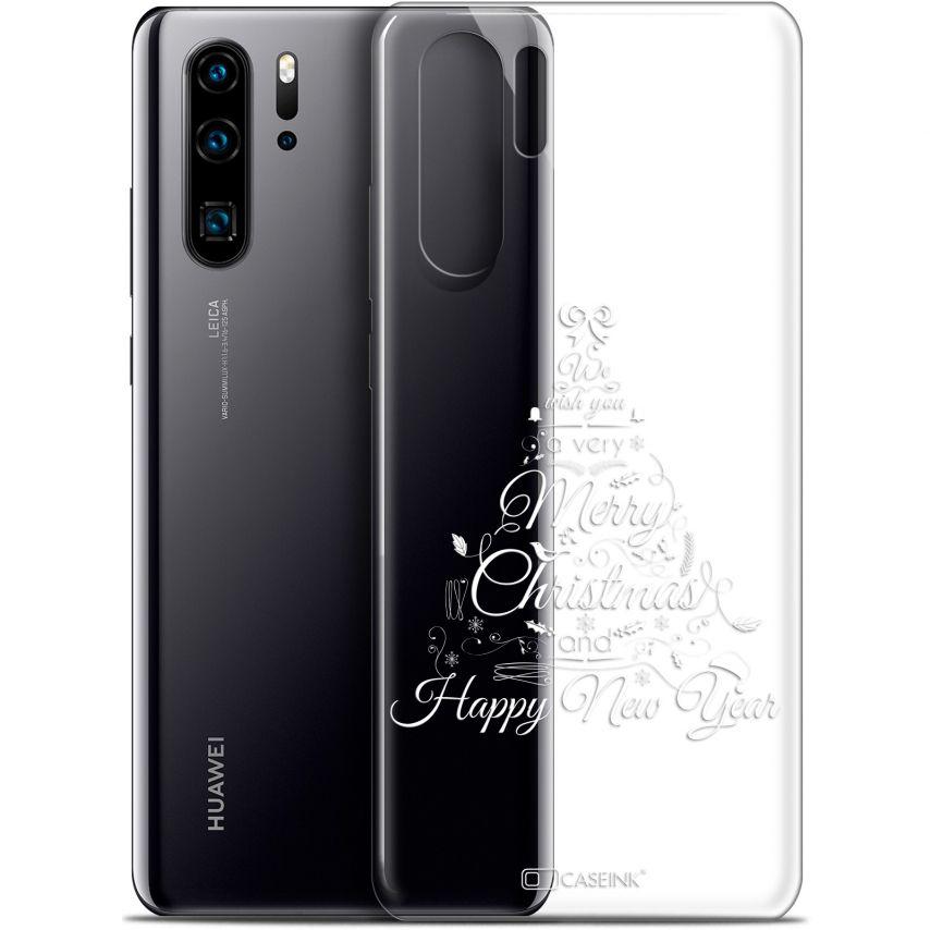 "Coque Gel Huawei P30 Pro (6.47"") Extra Fine Noël 2017 - Calligraphie"