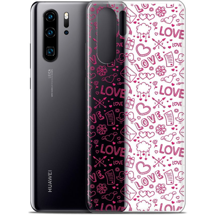 "Coque Gel Huawei P30 Pro (6.47"") Extra Fine Love - Doodle"