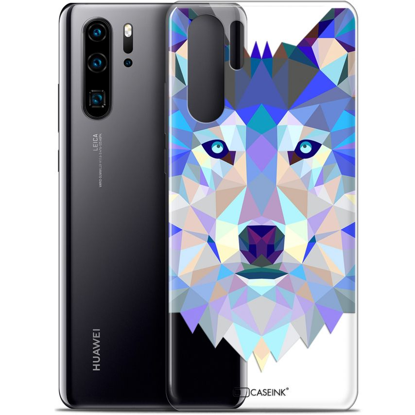 "Coque Gel Huawei P30 Pro (6.47"") Extra Fine Polygon Animals - Loup"