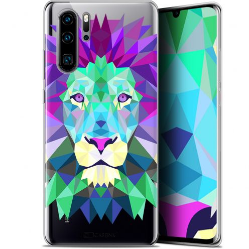 "Coque Gel Huawei P30 Pro (6.47"") Extra Fine Polygon Animals - Lion"