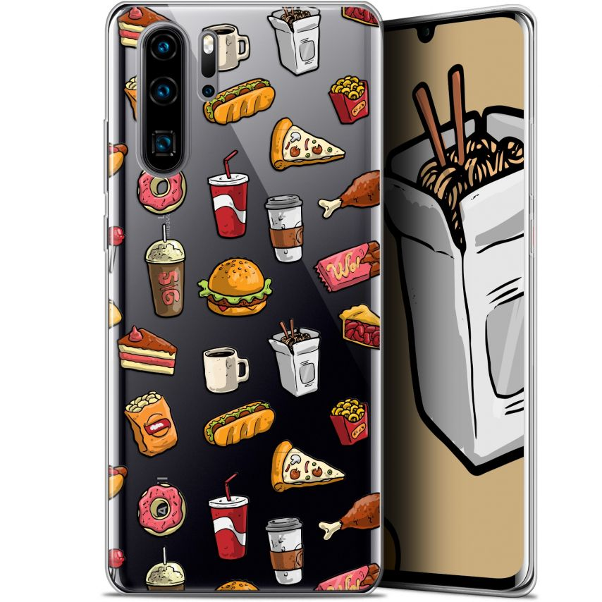 """Coque Gel Huawei P30 Pro (6.47"""") Extra Fine Foodie - Fast Food"""
