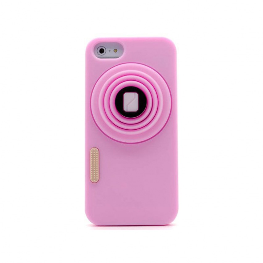 "Photo réelle de Coque iPhone 5 Vintage ""PHOTO"" Rose"