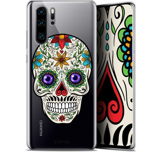 "Coque Gel Huawei P30 Pro (6.47"") Extra Fine Skull - Maria's Flower"