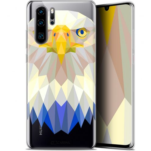 "Coque Gel Huawei P30 Pro (6.47"") Extra Fine Polygon Animals - Aigle"