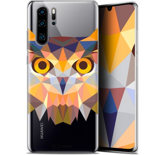 "Coque Gel Huawei P30 Pro (6.47"") Extra Fine Polygon Animals - Hibou"