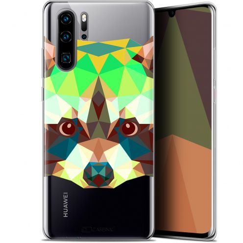 "Coque Gel Huawei P30 Pro (6.47"") Extra Fine Polygon Animals - Raton Laveur"