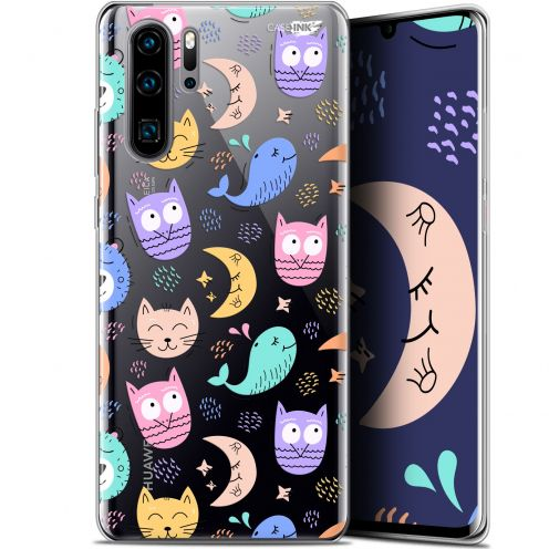 "Coque Gel Huawei P30 Pro (6.47"") Extra Fine Motif -  Chat Hibou"