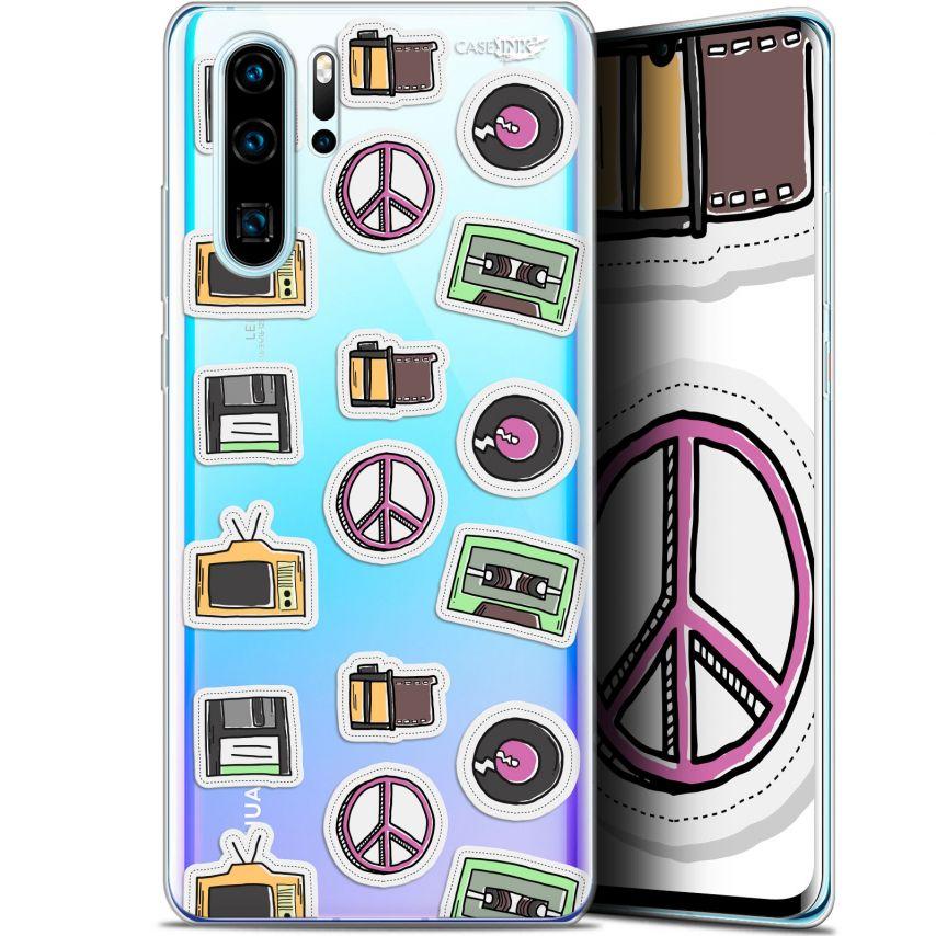 "Coque Gel Huawei P30 Pro (6.47"") Extra Fine Motif - Vintage Stickers"