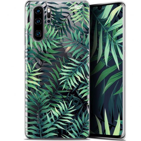 """Coque Gel Huawei P30 Pro (6.47"""") Extra Fine Motif -  Feuilles des Tropiques"""