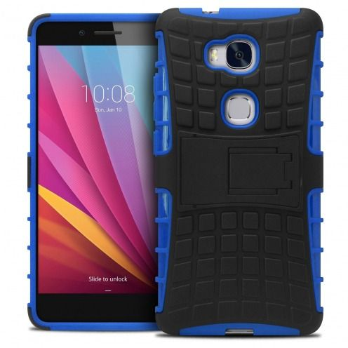 "Coque Antichoc Stand ""Spider"" Clubcase® Huawei Honor 5X Bleu"