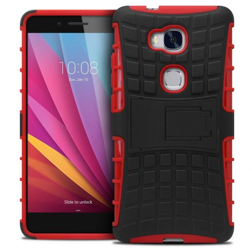 "Coque Antichoc Stand ""Spider"" Clubcase® Huawei Honor 5X Rouge"