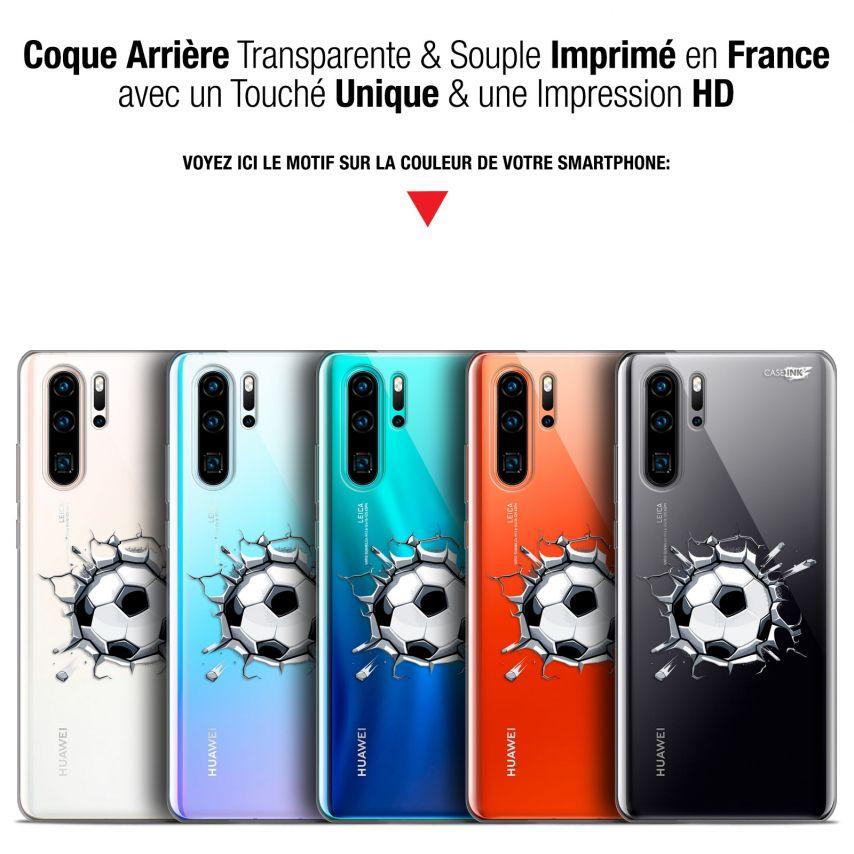"Coque Gel Huawei P30 Pro (6.47"") Extra Fine Motif - Le Balon de Foot"