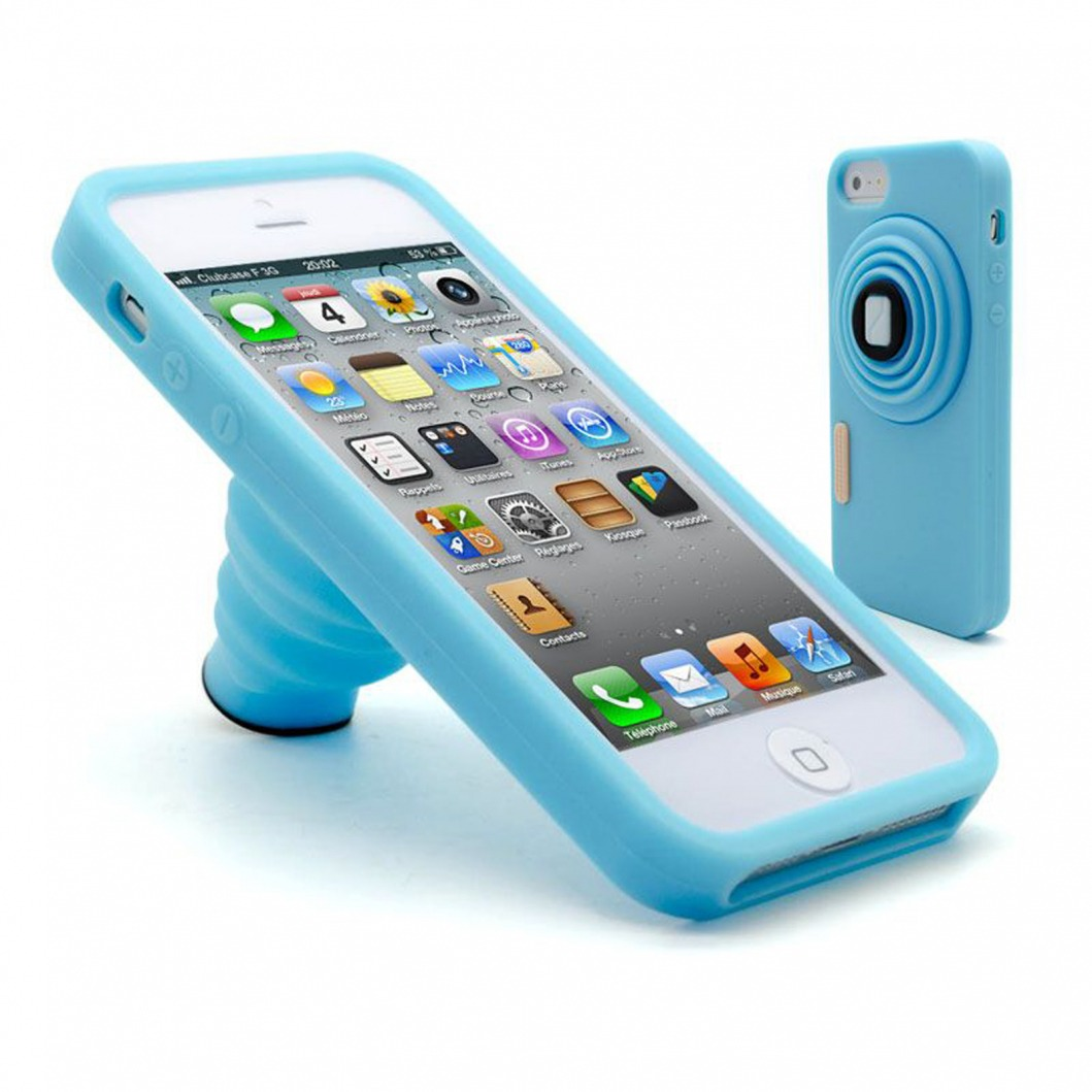 """How To Dispose Of Batteries >> Coque Vintage """"PHOTO"""" Stand Silicone Bleu iPhone 5 ..."""