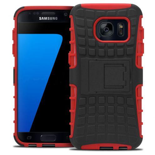 """Coque Antichoc Stand """"Spider"""" Clubcase® Samsung Galaxy S7 Rouge"""
