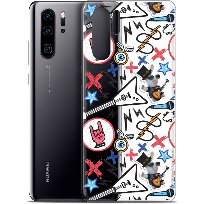 "Coque Gel Huawei P30 Pro (6.47"") Extra Fine Lapins Crétins™ - Rock Pattern"