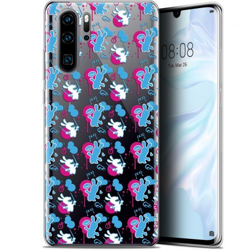 "Coque Gel Huawei P30 Pro (6.47"") Extra Fine Lapins Crétins™ - Rugby Pattern"