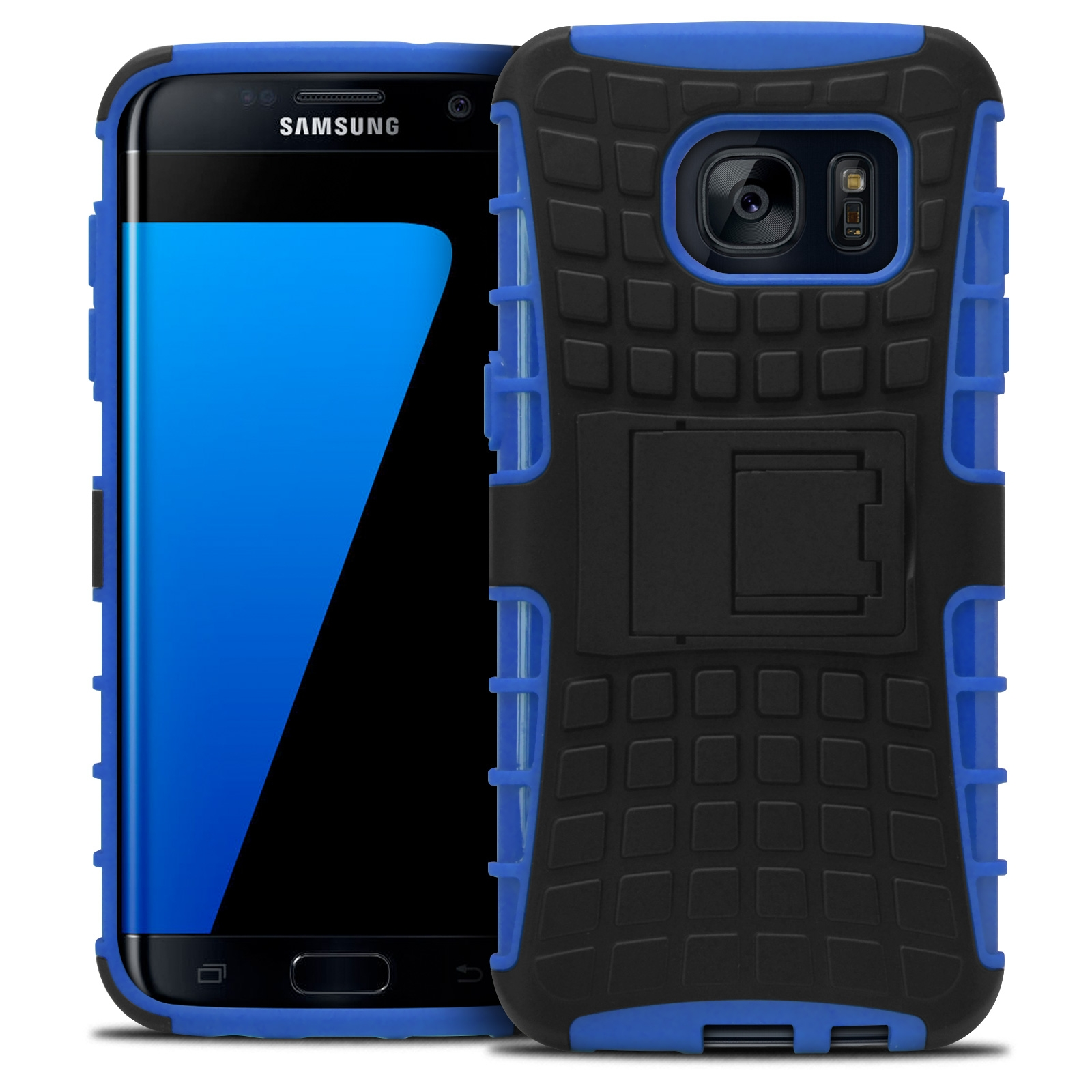 coque antichoc galaxy s7 edge collection spider bleu. Black Bedroom Furniture Sets. Home Design Ideas