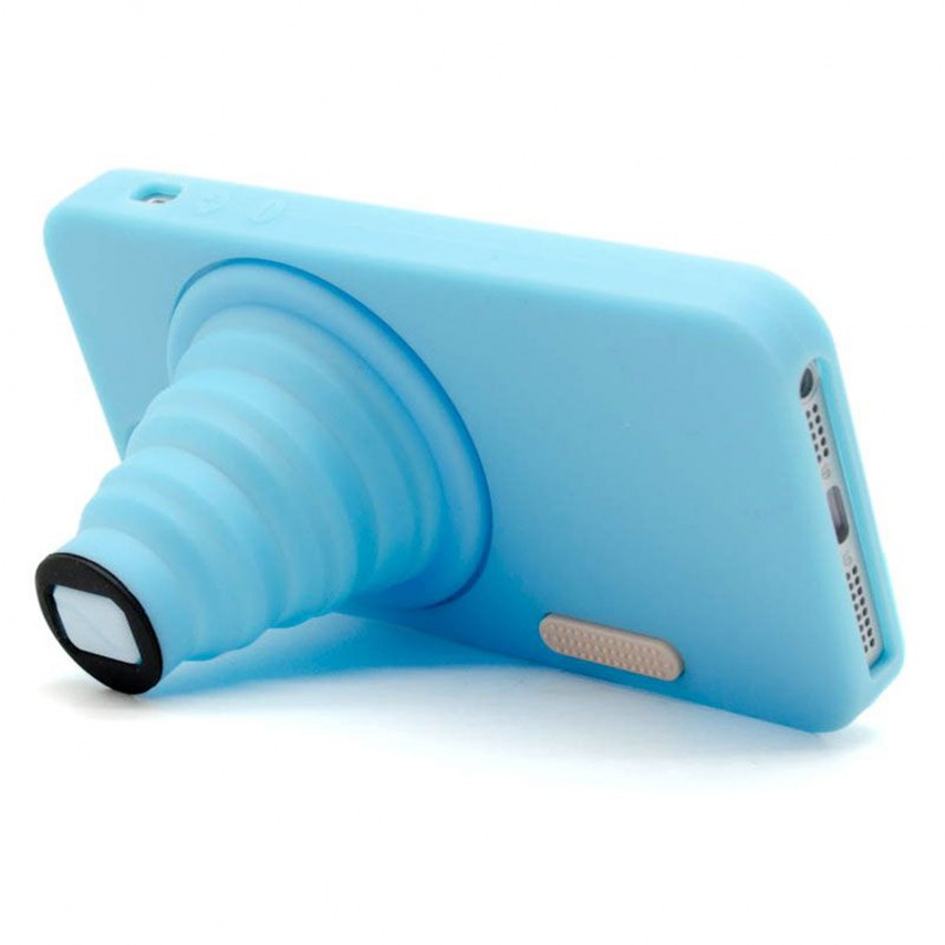 "Visuel unique de Coque iPhone 5 Vintage ""PHOTO"" Bleue"