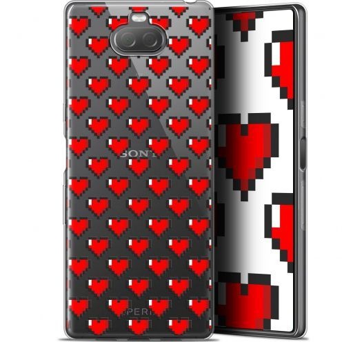 "Coque Gel Sony Xperia 10 (6"") Extra Fine Love - Pixel Art"
