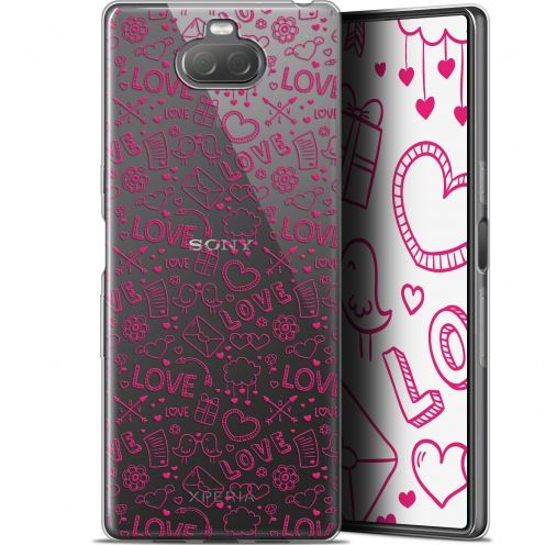 "Coque Gel Sony Xperia 10 (6"") Extra Fine Love - Doodle"