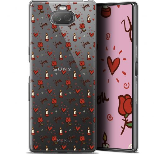 "Coque Gel Sony Xperia 10 (6"") Extra Fine Love - Bougies et Roses"