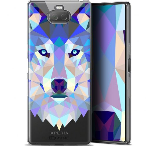 "Coque Gel Sony Xperia 10 (6"") Extra Fine Polygon Animals - Loup"