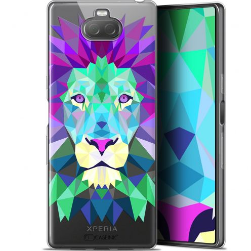 "Coque Gel Sony Xperia 10 (6"") Extra Fine Polygon Animals - Lion"