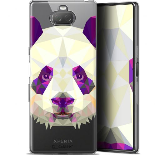 "Coque Gel Sony Xperia 10 (6"") Extra Fine Polygon Animals - Panda"