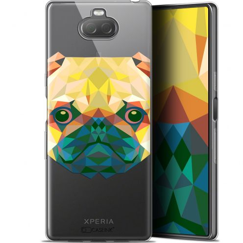 "Coque Gel Sony Xperia 10 (6"") Extra Fine Polygon Animals - Chien"