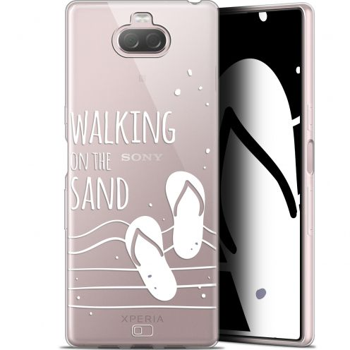 "Coque Gel Sony Xperia 10 (6"") Extra Fine Summer - Walking on the Sand"