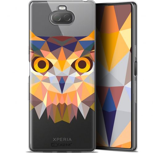 "Coque Gel Sony Xperia 10 (6"") Extra Fine Polygon Animals - Hibou"