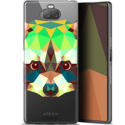 "Coque Gel Sony Xperia 10 (6"") Extra Fine Polygon Animals - Raton Laveur"