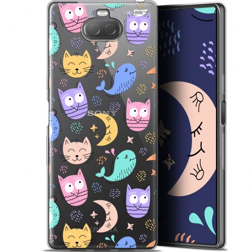 "Coque Gel Sony Xperia 10 (6"") Extra Fine Motif - Chat Hibou"