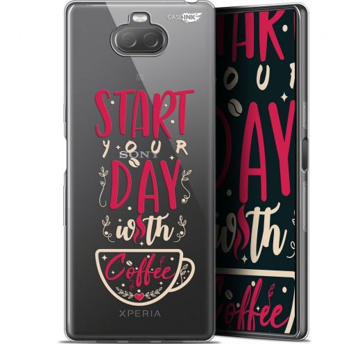 "Coque Gel Sony Xperia 10 (6"") Extra Fine Motif - Start With Coffee"