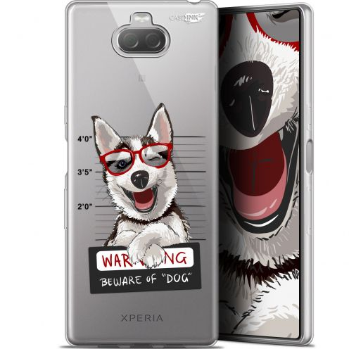 "Coque Gel Sony Xperia 10 (6"") Extra Fine Motif - Beware The Husky Dog"