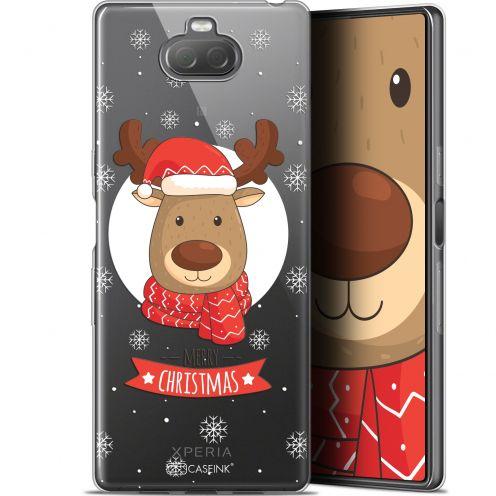 """Coque Gel Sony Xperia 10 Plus (6.5"""") Extra Fine Noël 2017 - Cerf à Echarpe"""