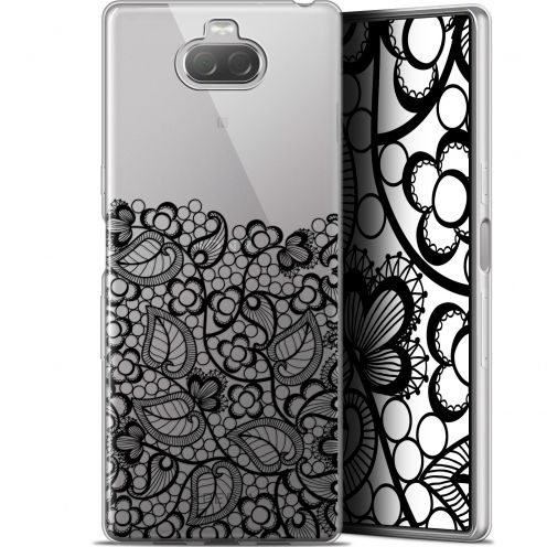 "Coque Gel Sony Xperia 10 Plus (6.5"") Extra Fine Spring - Bas dentelle Noir"