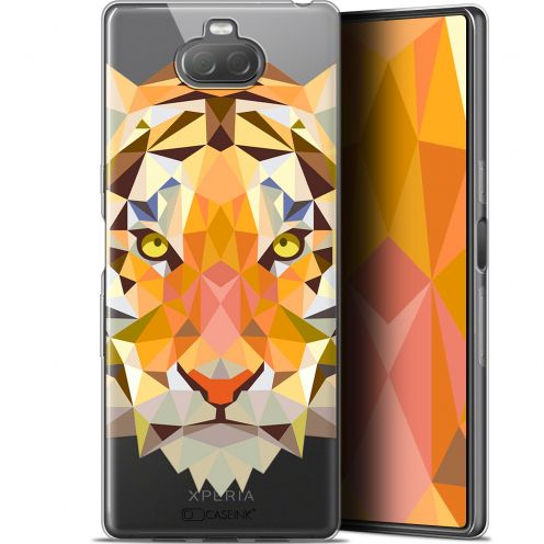 "Coque Gel Sony Xperia 10 Plus (6.5"") Extra Fine Polygon Animals - Tigre"