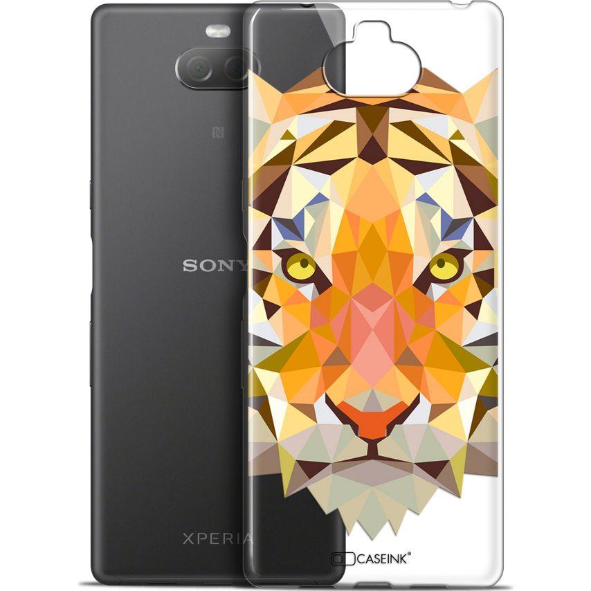 "Coque Gel Sony Xperia 10 Plus (6.5"") Extra Fine Polygon Animals - Tigre"