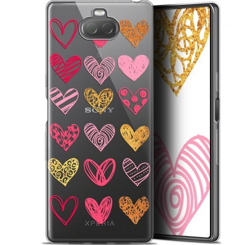 "Coque Gel Sony Xperia 10 Plus (6.5"") Extra Fine Sweetie - Doodling Hearts"