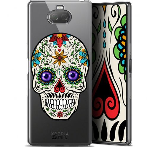 "Coque Gel Sony Xperia 10 Plus (6.5"") Extra Fine Skull - Maria's Flower"