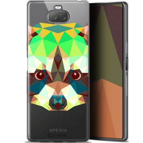 "Coque Gel Sony Xperia 10 Plus (6.5"") Extra Fine Polygon Animals - Raton Laveur"