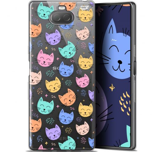 "Coque Gel Sony Xperia 10 Plus (6.5"") Extra Fine Motif - Chat Dormant"