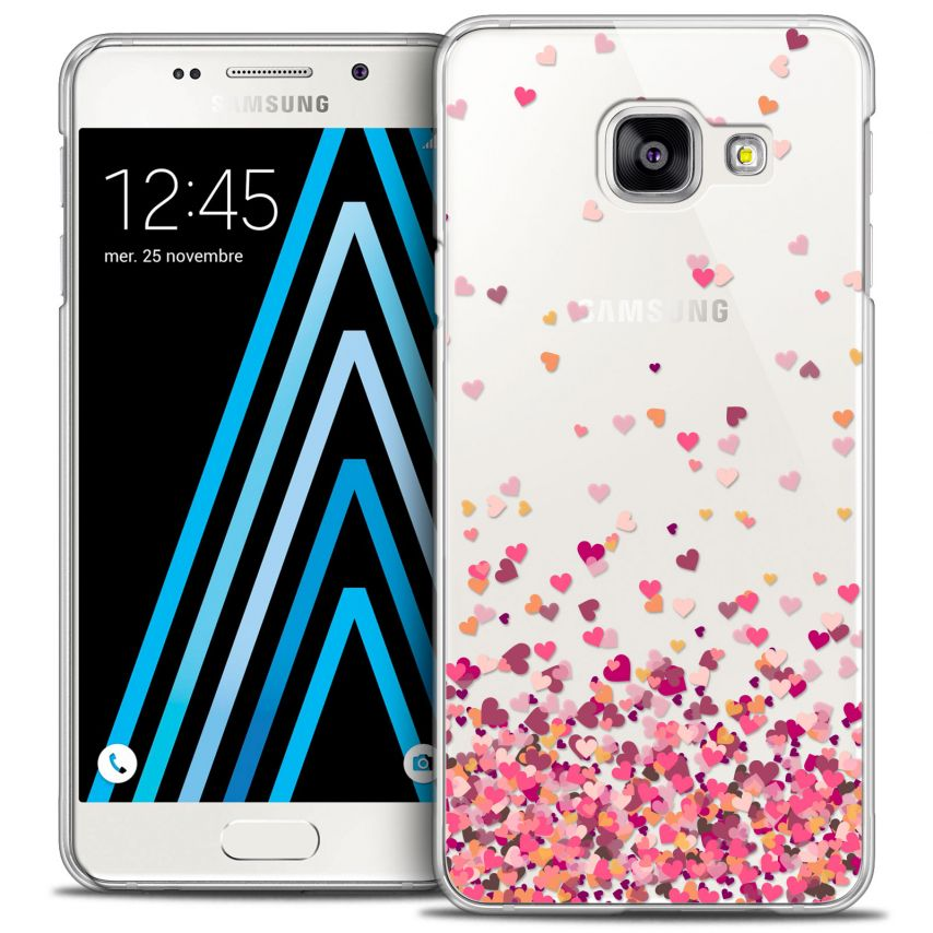 Coque Crystal Galaxy A3 2016 (A310) Extra Fine Sweetie - Heart Flakes