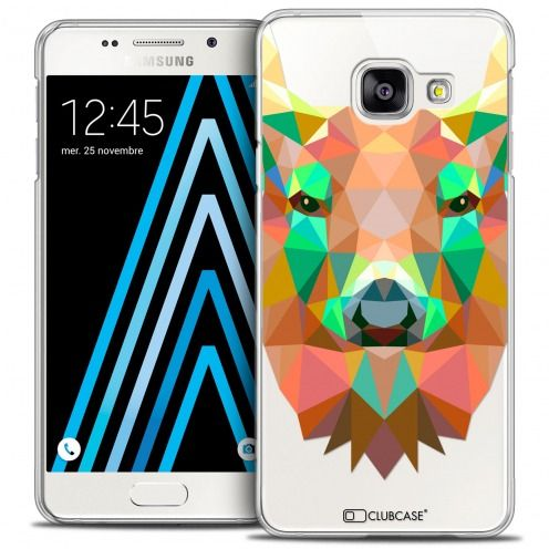 Coque Crystal Galaxy A3 2016 (A310) Extra Fine Polygon Animals - Cerf