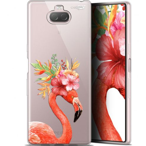 "Coque Gel Sony Xperia 10 Plus (6.5"") Extra Fine Motif - Flamant Rose Fleuri"