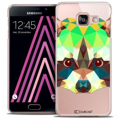 Coque Crystal Galaxy A3 2016 (A310) Extra Fine Polygon Animals - Raton Laveur