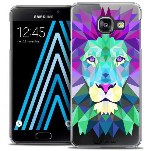 Coque Crystal Galaxy A3 2016 (A310) Extra Fine Polygon Animals - Lion